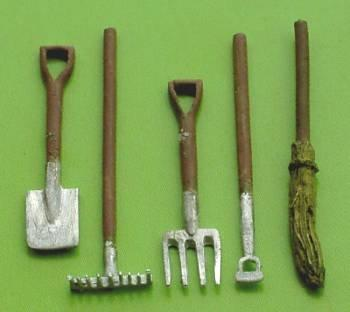 1/48th scale Painted Garden Tools