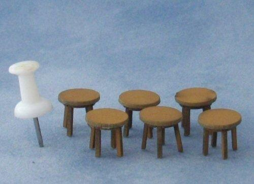 Quarter scale Four Short Stools Kit