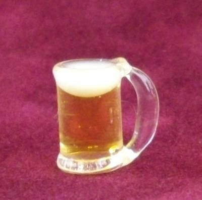 1/24th scale Filled Glass Beer Tankard