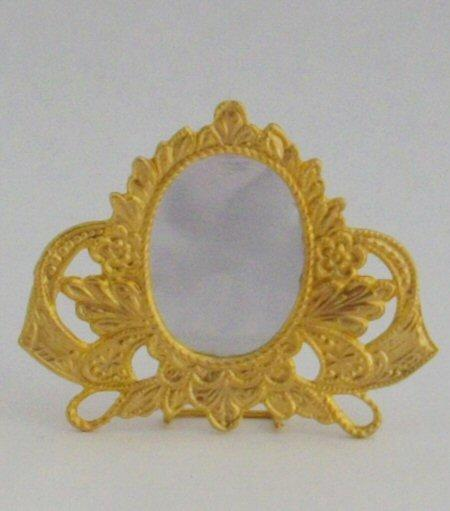 1/24th scale dolls house oval dressing table mirror