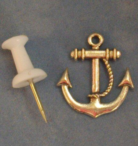 Little metal anchor suitable for a 1/48th or 1/24th scale