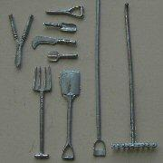 1/24th scale Garden Tools