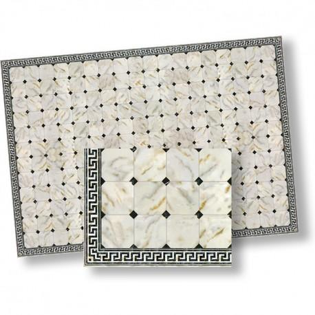 1/24th scale Black and White diamond Marble Floor Tiles