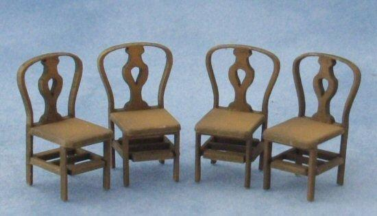 1/48th scale Four Fiddleback Back Chairs Kit