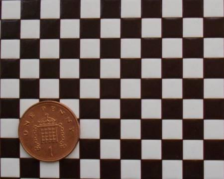 1/24th or 1/48th Black White Chequer Tiles