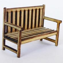 1/48th scale Wooden Garden Bench