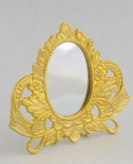 1/24th scale miniature gilt frame dressing table mirror