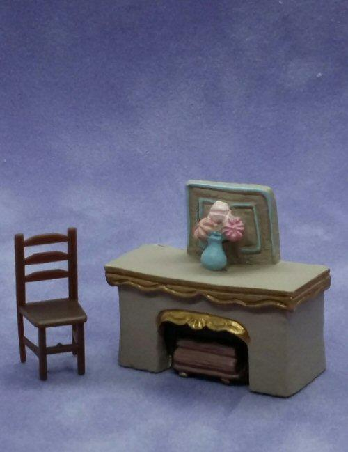 1/48th scale Resin Fireplace