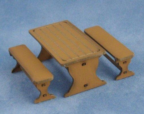 1/48th scale Farmhouse Table with benches
