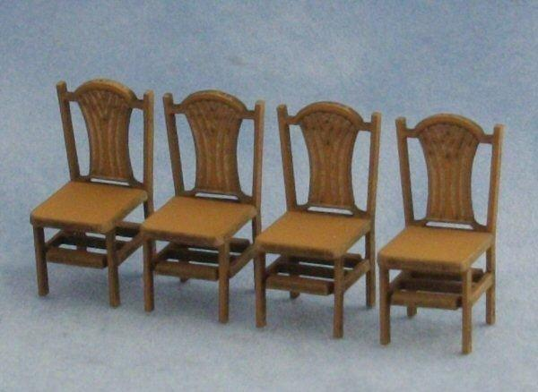 1/48th scale Four Sheaf Back Chairs Kit