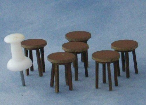 Quarter scale Four Tall Stools Kit