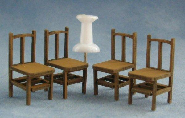 Quarter scale Four Bannister Back Chairs