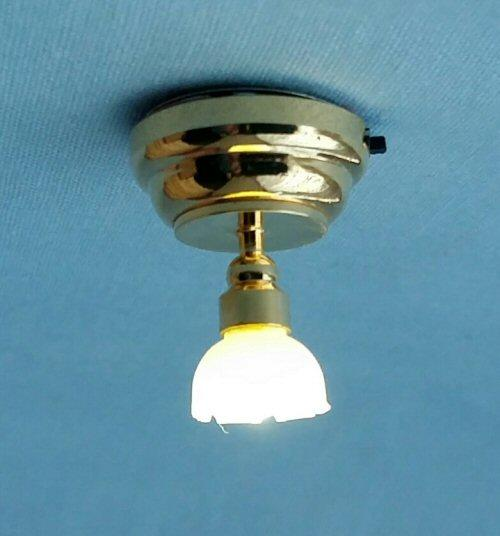 Half scale Dolls House Fluted Pendant Light LED