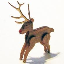 Finished 1/48th or quarter scale wooden Reindeer Kit