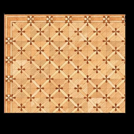 1/24th scale Versailles Star Parquet Wood Floor