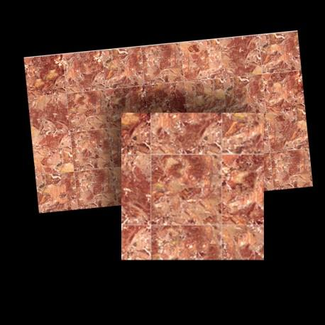 1/24th scale Red Marble Floor Tiles 17mm