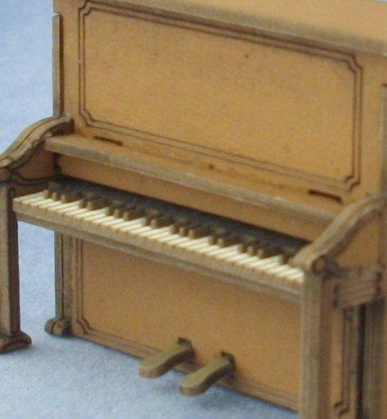 1/48th scale Upright Piano keyboard