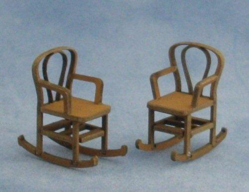 Quarter scale Two Bentwood Rocking Chairs Kit