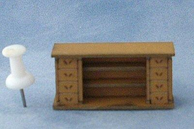 Back of the 1/48th scale Straight Shop Counter Kit