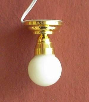 1/24th scale Dolls House Globe Shade Ceiling Light