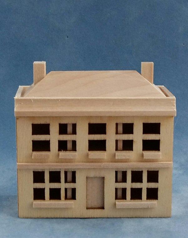 Front of 1/144th scale barewood house