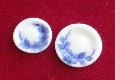 1/24th scale Plates - Blue and White