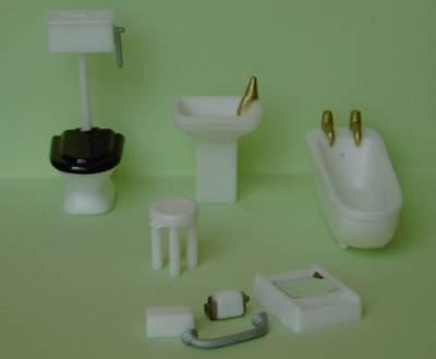 1/48th scale Plastic Bathroom Furniture set