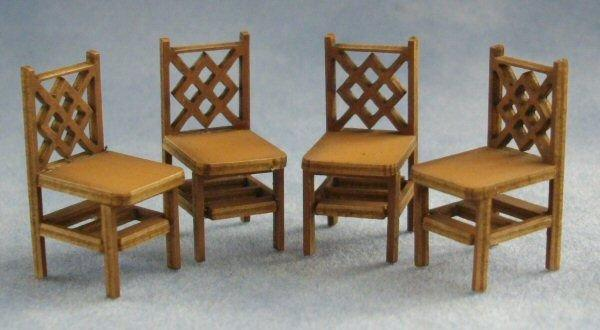 1/48th scale Criss Cross Square Back Chairs Kit