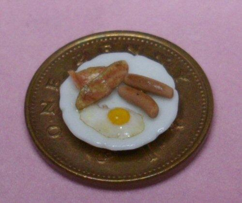 1/24th scale Handmade Plated Breakfast