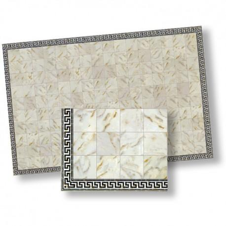 1/24th scale White Marble Floor Tiles