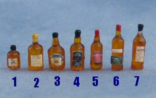 Quarter scale Whisky Bottles