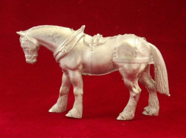1/48th scale Metal Horse for Cart or Caravan