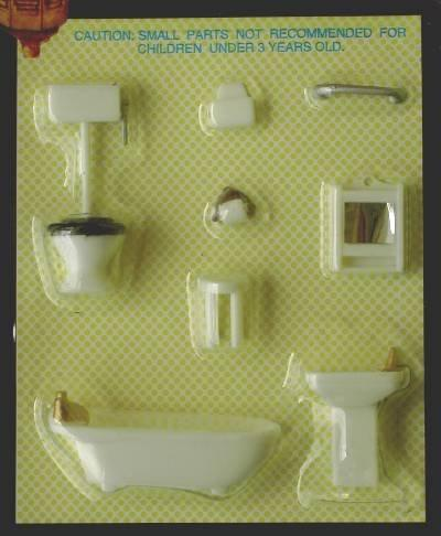 Quarter scale Plastic Bathroom Furniture set