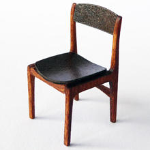 1/48th scale 70s Retro Four miniature Dining Chairs Kit