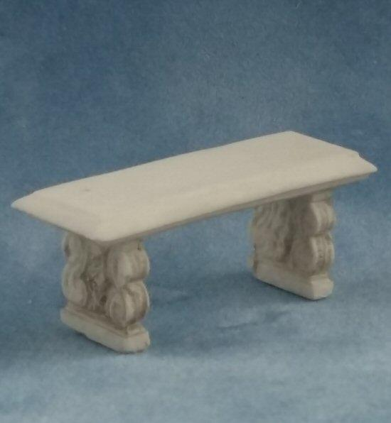 1/24th scale Garden Bench Stone Seat