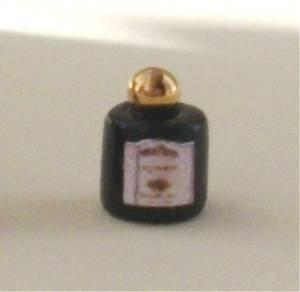 1/24th scale Black Lotion or Perfume Jar