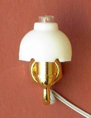 A 1/24th scale Dolls House Fluted Shade Wall Light