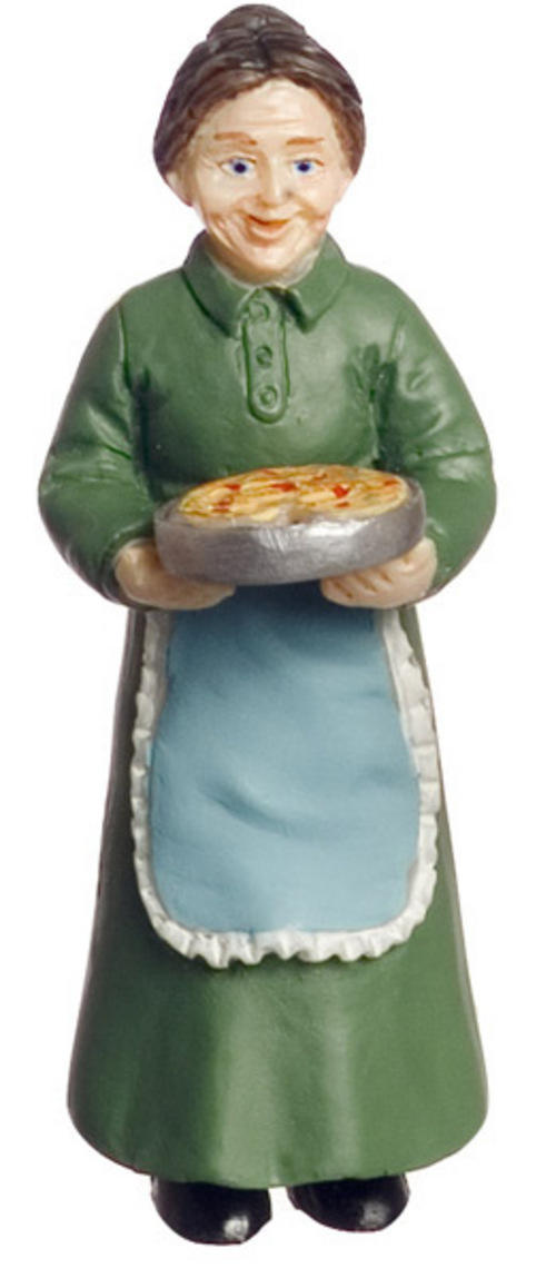 1/24th scale Grandmother in green dress