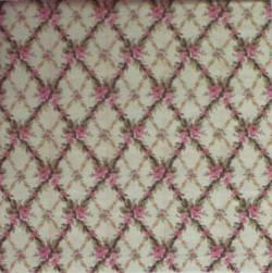 1/24th scale Rose Floral Trellis Wallpaper