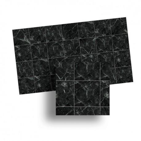 1/24th scale Black Marble Floor Tiles 17mm