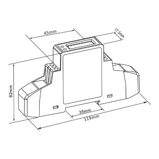 Eastron SDM120DB - Dimensions