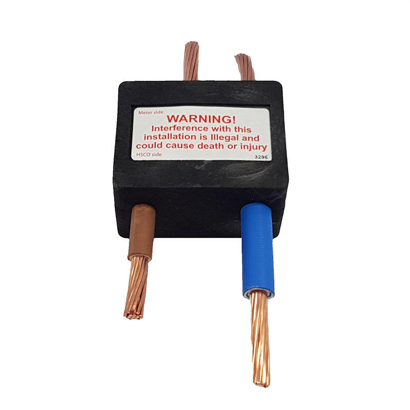 Electric Meter Security Block to fit Henley Series 7 - 25mm Double Insulated - Single Connection