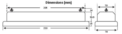 Current Transformer Test Block - Dimensions