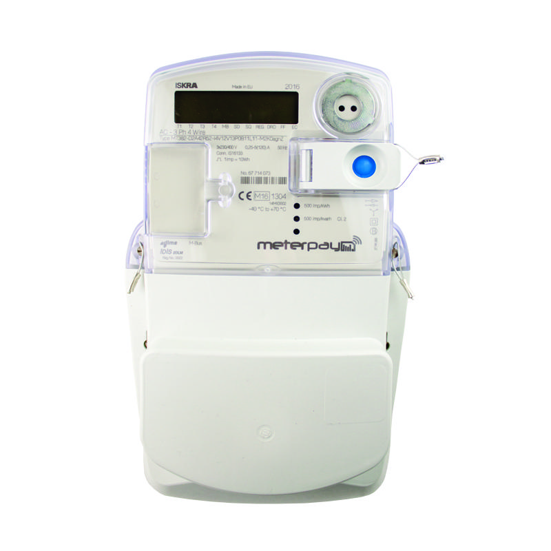 Iskra MT382 Smart 3-Phase Prepayment Meter with MeterPay