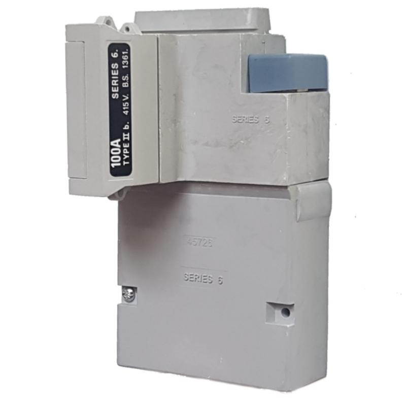 WT Henley - Series 6 Single Phase House Service Cut Out (Separate Neutral & Earth) - 100 Amp Fuse Link