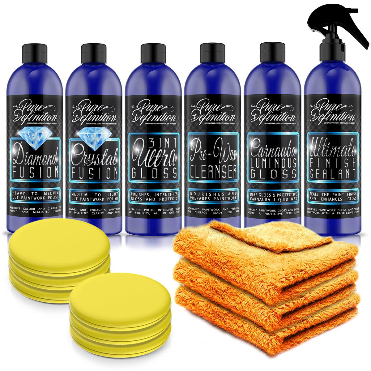 pure-definition-car-care-detailing-polish-wax-scratch-remover-kit