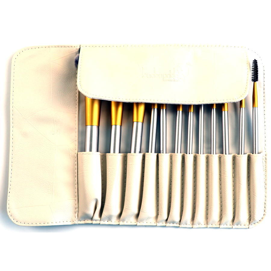 London Pride Cosmetics Royal Premium Collection 12pc Brush Set In Leather Pouch