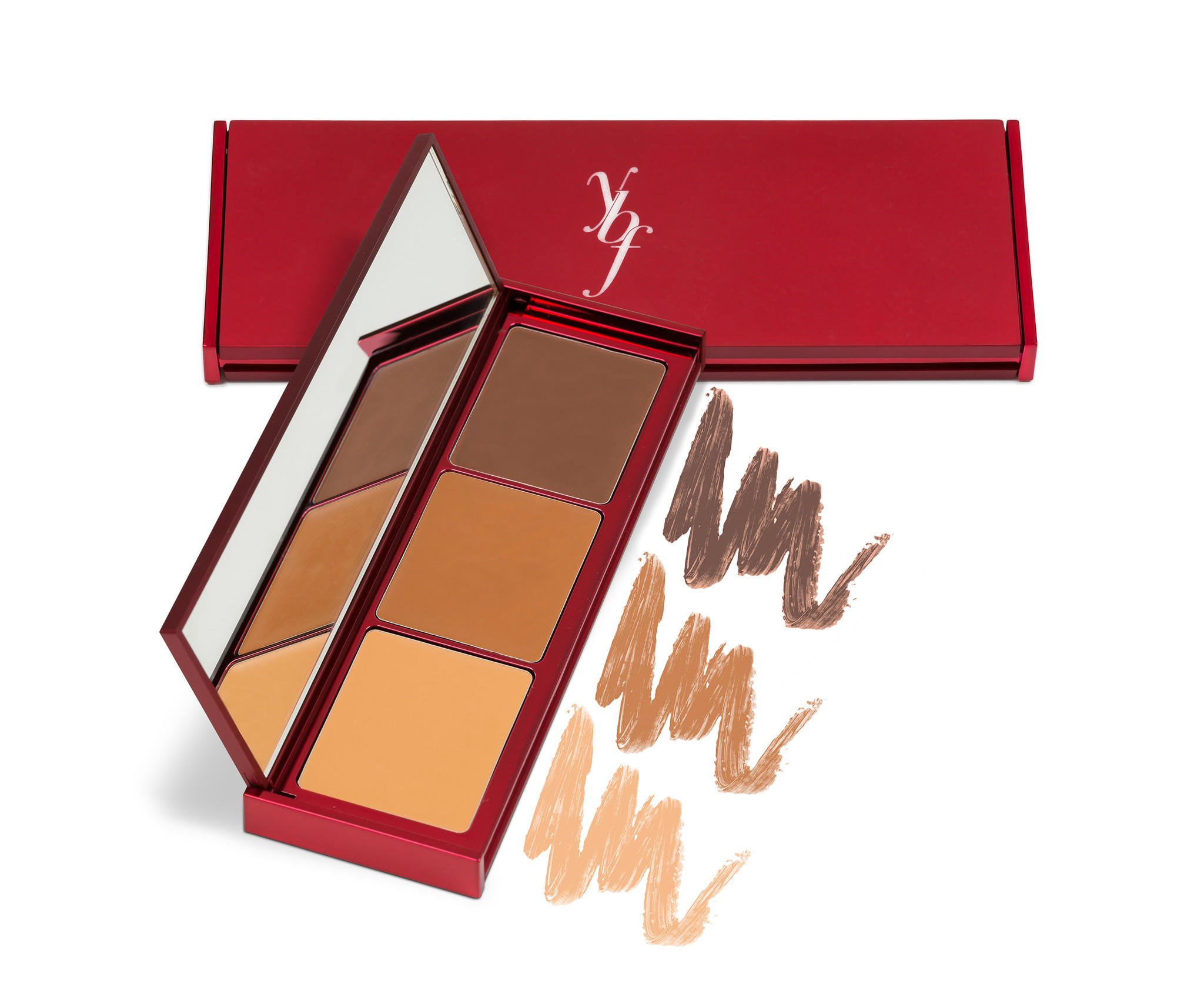 YBF Brighten, Hide & Sculpt Concealer Palette Medium/Dark