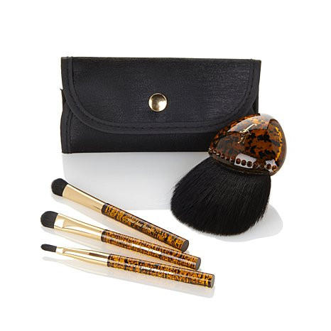 YBF Stunning Faux Tortoise Shell Four Brush Collection