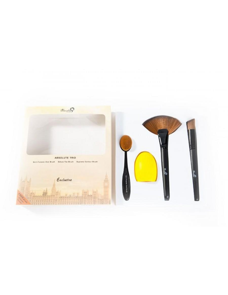 London Pride Cosmetics Absolute Trio with Brush Cleaner